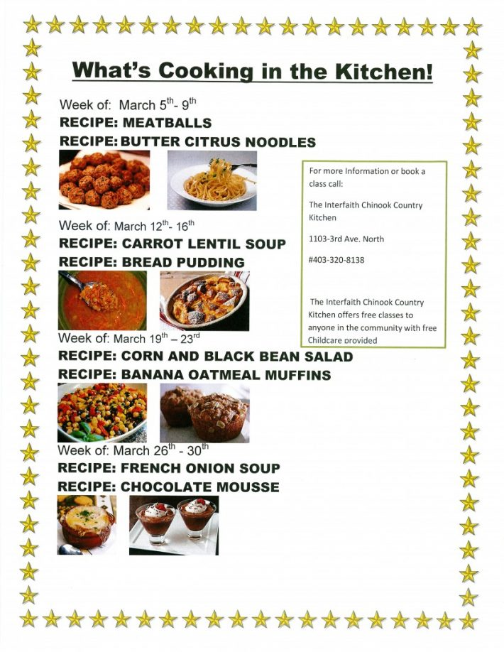 Freeclasses interfaith food bank society of lethbridge whats cooking in the kitchen forumfinder Images