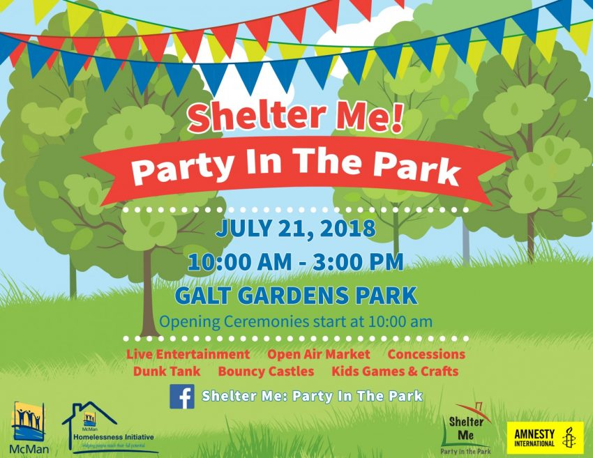 Shelter Me! Party in the Park!