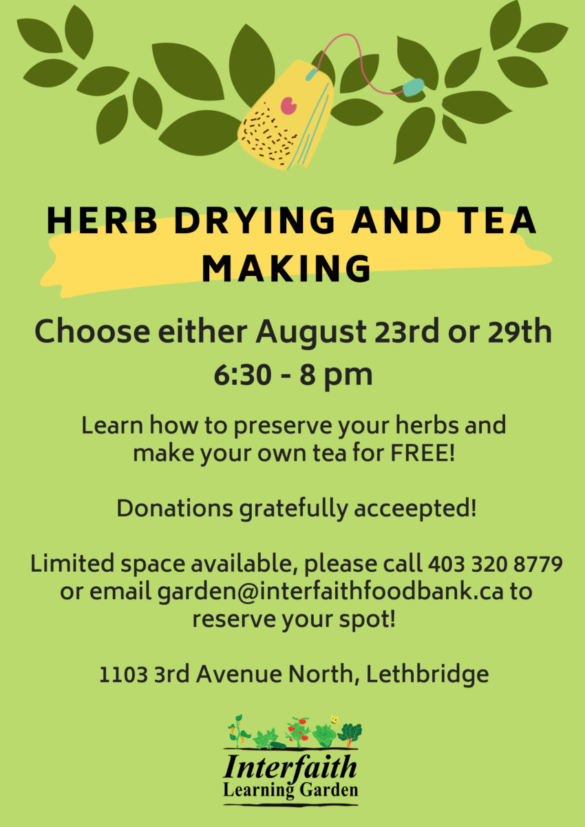 Herb Drying and Tea Making